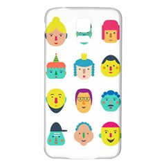 Face People Man Girl Male Female Young Old Kit Samsung Galaxy S5 Back Case (white) by AnjaniArt