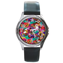 Face Round Metal Watch