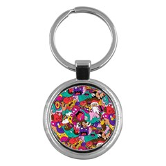 Face Key Chains (round)  by AnjaniArt
