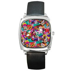 Face Square Metal Watch