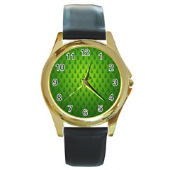 Fire Kindle Wallpaper Christmas Trees Round Gold Metal Watch