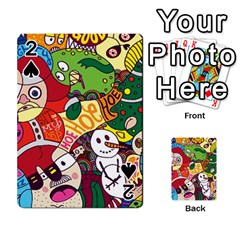 Face Mask Cartoons Stash Holiday Playing Cards 54 Designs  by AnjaniArt