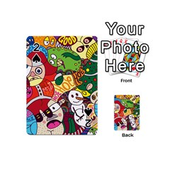 Face Mask Cartoons Stash Holiday Playing Cards 54 (mini)  by AnjaniArt