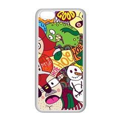 Face Mask Cartoons Stash Holiday Apple Iphone 5c Seamless Case (white) by AnjaniArt
