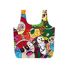 Face Mask Cartoons Stash Holiday Full Print Recycle Bags (s)