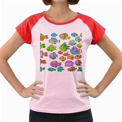 Fishes Col Fishing Fish Women s Cap Sleeve T Shirt by AnjaniArt