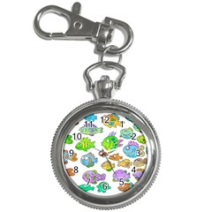 Fishes Col Fishing Fish Key Chain Watches by AnjaniArt