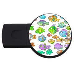 Fishes Col Fishing Fish Usb Flash Drive Round (2 Gb)  by AnjaniArt