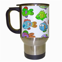 Fishes Col Fishing Fish Travel Mugs (white) by AnjaniArt
