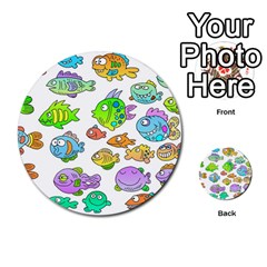 Fishes Col Fishing Fish Multi Purpose Cards (round)