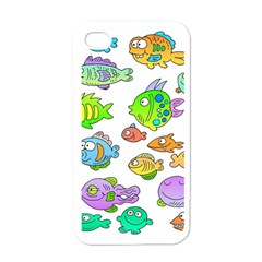 Fishes Col Fishing Fish Apple Iphone 4 Case (white) by AnjaniArt