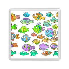 Fishes Col Fishing Fish Memory Card Reader (square)  by AnjaniArt