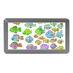 Fishes Col Fishing Fish Memory Card Reader (mini) by AnjaniArt