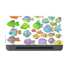 Fishes Col Fishing Fish Memory Card Reader With Cf by AnjaniArt