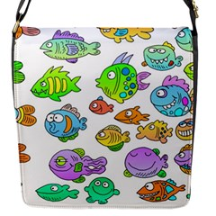 Fishes Col Fishing Fish Flap Messenger Bag (s) by AnjaniArt