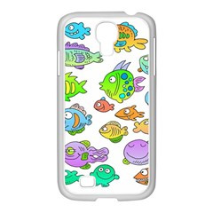 Fishes Col Fishing Fish Samsung Galaxy S4 I9500/ I9505 Case (white) by AnjaniArt