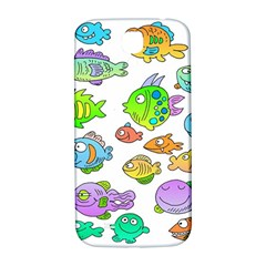 Fishes Col Fishing Fish Samsung Galaxy S4 I9500/i9505  Hardshell Back Case by AnjaniArt