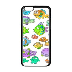 Fishes Col Fishing Fish Apple Iphone 6/6s Black Enamel Case by AnjaniArt