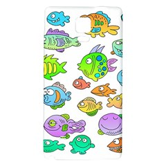 Fishes Col Fishing Fish Galaxy Note 4 Back Case by AnjaniArt