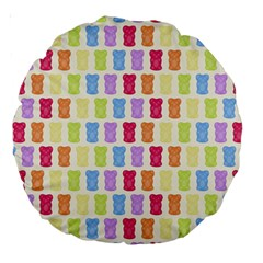 Gummibears Candy Large 18  Premium Round Cushions
