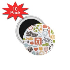 Health Habits Attitudes Hispanic Studied Sport 1 75  Magnets (10 Pack)  by AnjaniArt