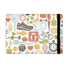 Health Habits Attitudes Hispanic Studied Sport Apple Ipad Mini Flip Case by AnjaniArt