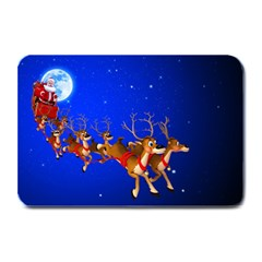 Holidays Christmas Deer Santa Claus Horns Plate Mats