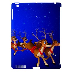 Holidays Christmas Deer Santa Claus Horns Apple Ipad 3/4 Hardshell Case (compatible With Smart Cover)