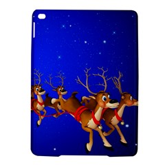 Holidays Christmas Deer Santa Claus Horns Ipad Air 2 Hardshell Cases