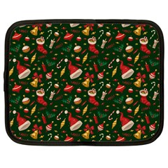 Hat Merry Christmast Netbook Case (large) by AnjaniArt