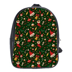 Hat Merry Christmast School Bags(large)