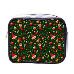 Hat Merry Christmast Mini Toiletries Bags by AnjaniArt