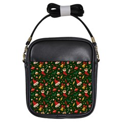 Hat Merry Christmast Girls Sling Bags by AnjaniArt