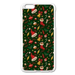 Hat Merry Christmast Apple Iphone 6 Plus/6s Plus Enamel White Case by AnjaniArt
