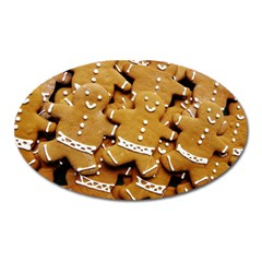 Gingerbread Men Oval Magnet by AnjaniArt