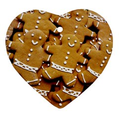 Gingerbread Men Heart Ornament (2 Sides) by AnjaniArt