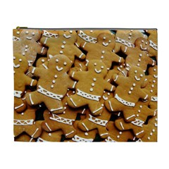 Gingerbread Men Cosmetic Bag (xl) by AnjaniArt