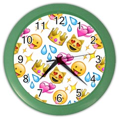 King Cat Smile Water Love Christmast Color Wall Clocks by AnjaniArt