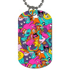 Jumble Bunny Dog Tag (two Sides) by AnjaniArt