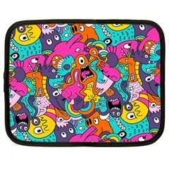 Jumble Bunny Netbook Case (large) by AnjaniArt