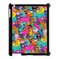 Jumble Bunny Apple Ipad 3/4 Case (black) by AnjaniArt