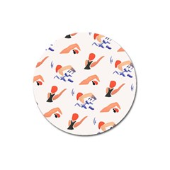 Olympics Swimming Sports Magnet 3  (round) by AnjaniArt