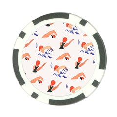 Olympics Swimming Sports Poker Chip Card Guards by AnjaniArt