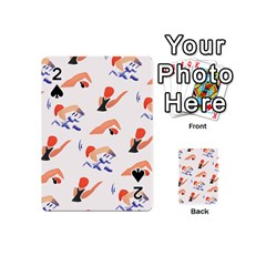 Olympics Swimming Sports Playing Cards 54 (mini)  by AnjaniArt