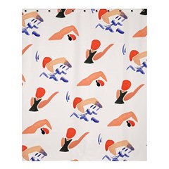 Olympics Swimming Sports Shower Curtain 60  X 72  (medium)  by AnjaniArt