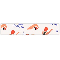 Olympics Swimming Sports Flano Scarf (large) by AnjaniArt