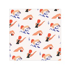 Olympics Swimming Sports Small Satin Scarf (square) by AnjaniArt