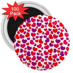 Love Pattern Wallpaper 3  Magnets (100 Pack)