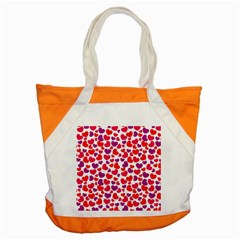 Love Pattern Wallpaper Accent Tote Bag by AnjaniArt