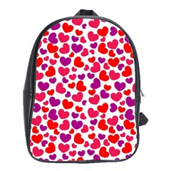 Love Pattern Wallpaper School Bags(large)  by AnjaniArt
